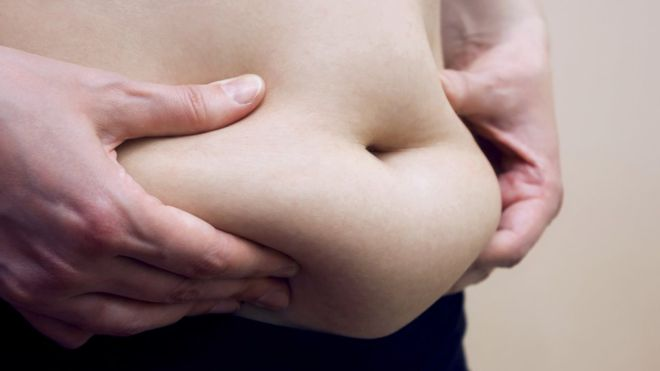 loose belly fat to increase penis size